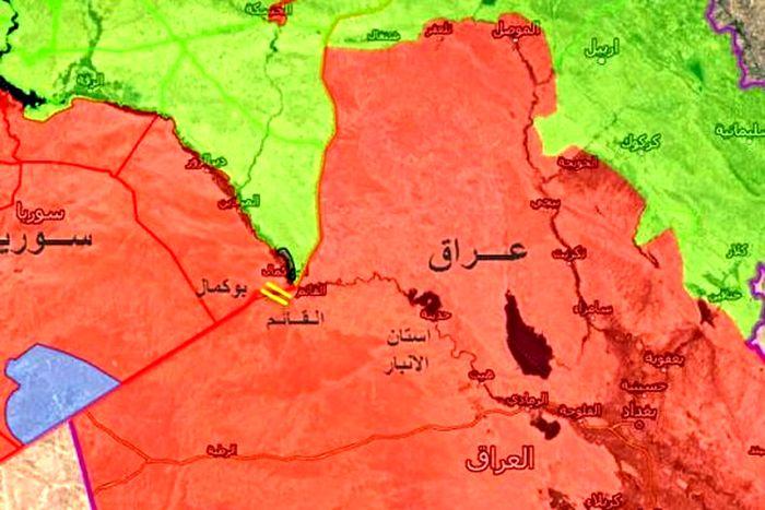فوری / حمله هوایی به نوار مرزی عراق و سوریه