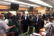 بازدید قالیباف از صدا و سیما به مناسبت روز خبرنگار