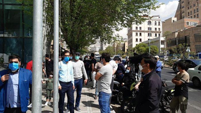 تجمع اعتراضی مقابل سازمان بورس