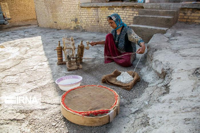 تصاویر/ غربال بافی و اقتصاد کوچک روستایی