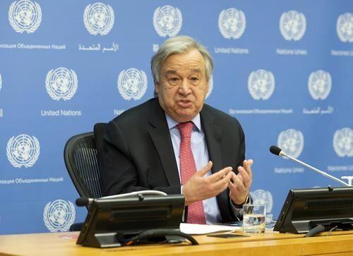 گفت و گوی پوتین و گوترش برای حل مساله فلسطین