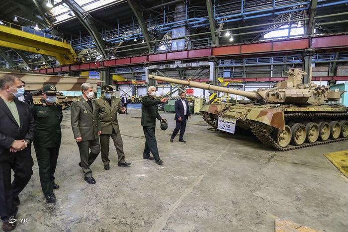 تصاویر / افتتاح خط بهینه سازی تانک های نیروهای مسلح