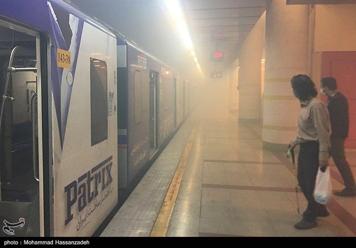 تصاویر/ حادثه امروز متروی اکباتان