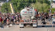 تصاویر/ خشونت پلیس با معترضان آمریکایی