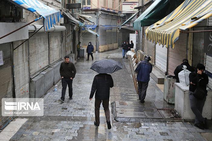 تصاویر / بازار تهران در روز اول محدودیتهای کرونایی