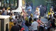 هواداران سپاهان مانع حرکت اتوبوس پرسپولیس شدند!