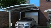 ساخت سقف سایبان ماشین برای پارکینگ خودرو در حیاط خانه