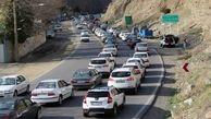 جاده چالوس سفیدپوش شد / ترافیک سنگین در آزادراه کرج - قزوین