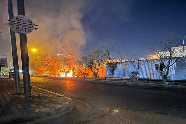 آتش زدن کنسولگری ایران در کربلا