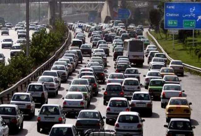ترافیک سنگین در آزادراه تهران - کرج
