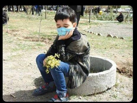 کودک یکی از محیط بانان زنجانی + عکس