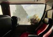 دلیل واژگونی اتوبوس خبرنگاران چه بود؟ + فیلم