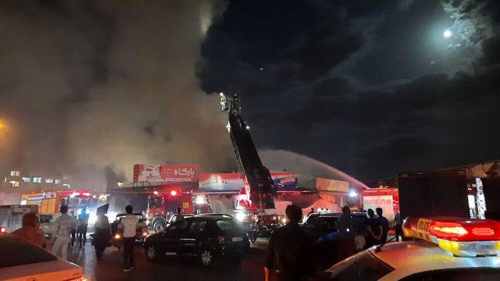آتش سوزی در بازار مصلی مشهد + جزئیات