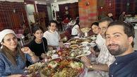 غذا خوردن همایون شجریان و سحر دولتشاهی در عراق!