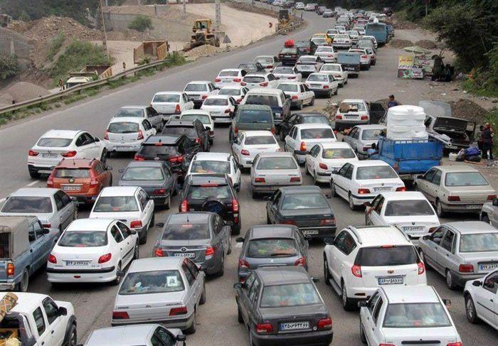 ترافیک سنگین در دو محور شمال به تهران
