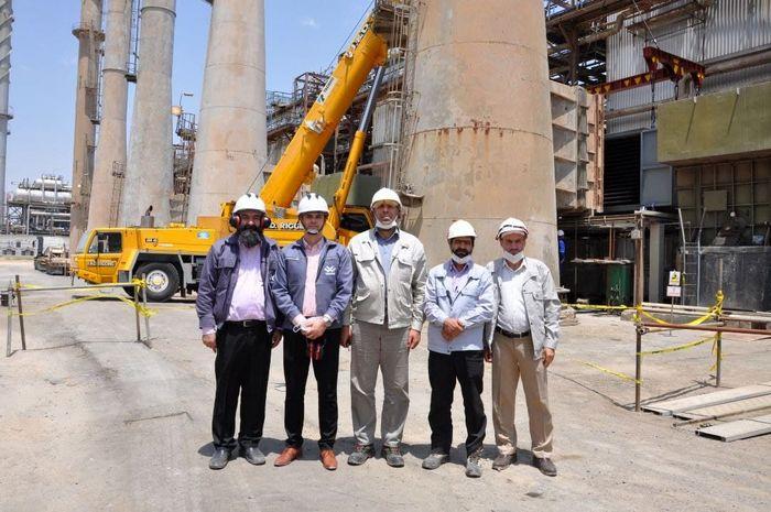 نصب تجهیزات جدید در پالایش نفت اصفهان