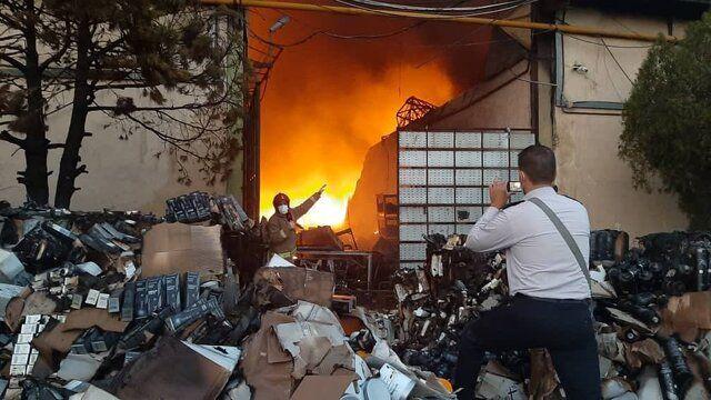 جزئیات آتش سوزی سازمان اموال تملیکی