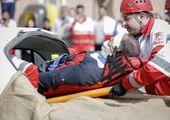 واژگونی تریلی در پایتخت حادثه آفرید + تصاویر