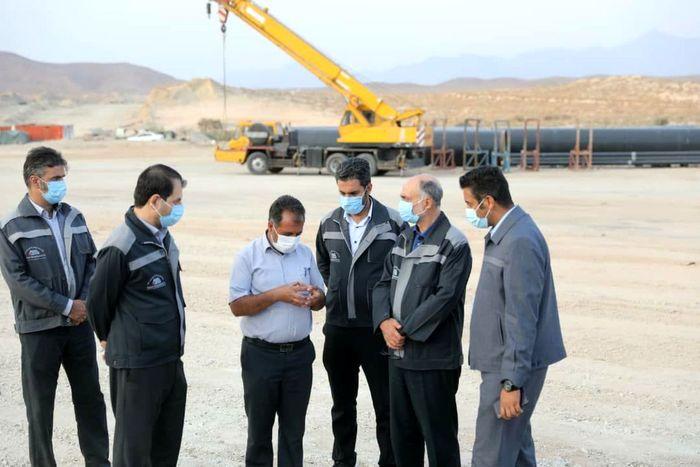 بازدید مدیرعامل گل گهر از پروژه انتقال آب خلیجفارس