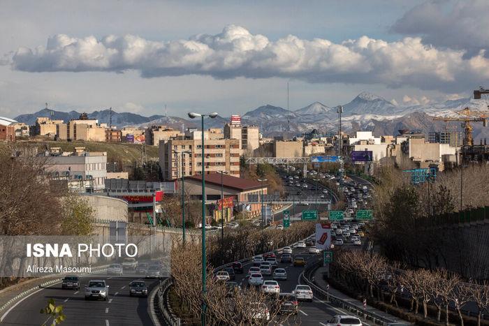 تصاویر/ آسمان آبی و تماشایی پایتخت