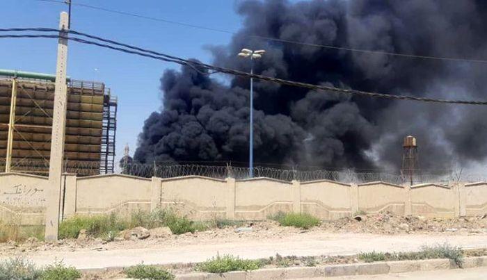 آتش سوزی در نیروگاه شهید مدحج اهواز