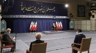 کتیبه معنادار حسینیه امام خمینی در هنگام حضور مدال آوران المپیک