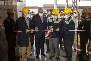 کارگاه تولید آهن اسفنجی ذوب آهن اصفهان راه اندازی شد