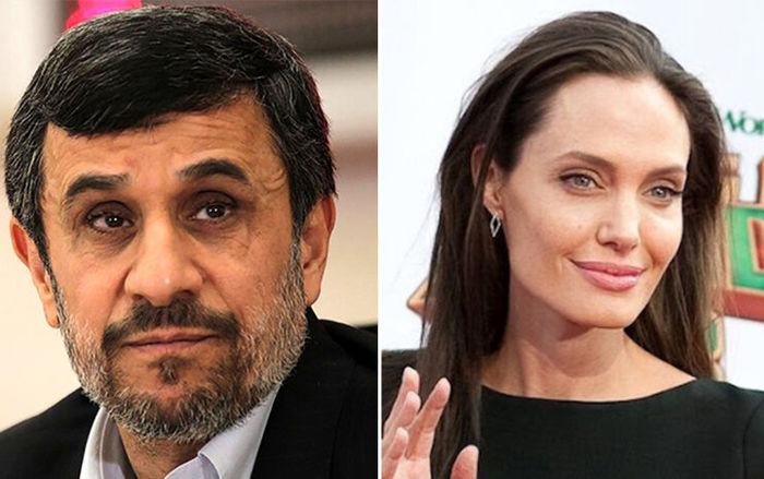 ماجرای توییت احمدی نژاد برای آنجلینا جولی