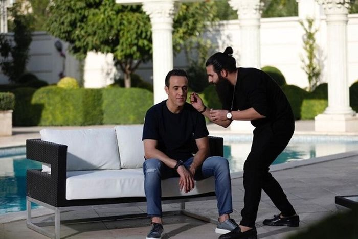 اسطوره فوتبال ایران زیر دست گریمور! + عکس