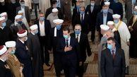 حضور بشار اسد در مراسم میلاد رسول اکرم (ص) + عکس
