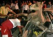 تصادف عجیب این پراید با شتر!+عکس