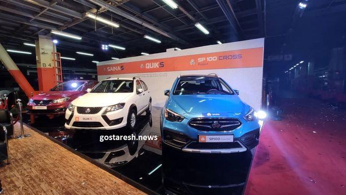 خودروی جدید سایپا را ببینید / کراس اوور Sp۱۰۰ از زوایای مختلف