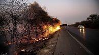 تصاویر/ آتشی که کشاورزان به پا کردند!