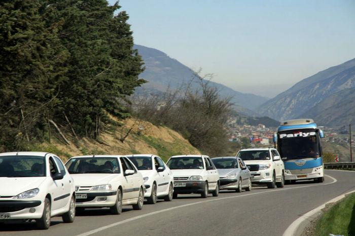 ترافیک سنگین در جاده کندوان